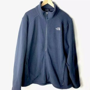 The north face fleece zip up jacket blue men's xl